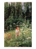 Girl Among the Wild Flowers  1880