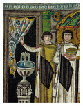 Courtiers by a Fountain (Mosaic)