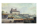 Villa Medici  Rome  C1776 (Oil on Paper)