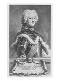 Friedrich Ii  King of Prussia  Engraved by Georg Friedrich Schmidt  1746 (Engraving)