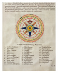Wind Rose with the 32 Winds Ofthe World  from the 'Atlas Maior  Sive Cosmographia Blaviana'  1662