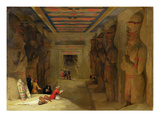 The Hypostyle Hall of the Great Temple at Abu Simbel  Egypt  1849 (Oil on Panel)