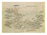 Aerial View of the Islands of Japan  C1820 (W/C on Paper)