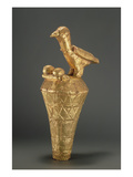 Asante Royal Umbrella Finial Depiciting a Bird and its Young  from Ghana (Gilt Wood)