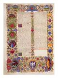 End of the Book of Solomon  from the Borso D'Este Bible Vol 1 (Vellum)