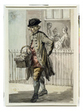 London Cries: a Muffin Man  C1759 (W/C on Paper)