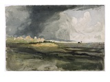 At Hailsham  Sussex: a Storm Approaching  1821 (W/C over Graphite on Paper)