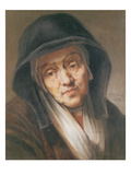 Copy of a Portrait by Rembrandt of His Mother  1776 (Pastel on Paper)