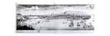 View of Scarborough  1735 (Engraving) (B/W Photo)