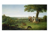 One Tree Hill  Greenwich  with London in the Distance  1779 (Oil on Panel)