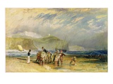 Folkestone Harbour and Coast to Devon  C1830 (W/C and Gouache on Paper)
