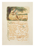 Spring'  Plate 12 from 'Songs of Innocence and Experience'  after William Blake (1757-1827) C1808