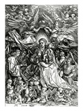 The Coronation of the Virgin and Child  1518 (Woodcut)