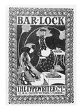 Advertisement for Bar-Lock Typewriters  C1895 (Litho)