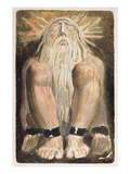 A Naked Man with a Long  White Beard  Plate 3 from 'The First Book of Urizen'  1794