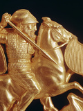 Comb Ornamented with Warrior in Combat (Gold) (Detail of 389348)