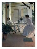 Open Air Interior  Barcelona  1892