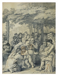 The Indians Delivering Up the English Captives to Colonel Bouquet Near His Camp