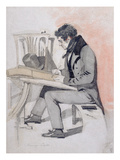 Henry Sass  C1830 (Black Chalk  W/C and Pen and Ink on Paper)
