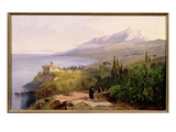 Mount Athos and the Monastery of Stavroniketes  1857