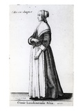 London Citizen's Daughter  1643 (Etching)