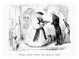 Mother Church Putting Her House in Order  Cartoon from 'Punch'  1850 (Engraving)