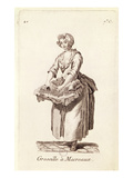 Gooseberries for Mackerel'  the Gooseberry Seller  from 'Petits Metiers De Paris' (Engraving)