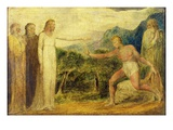 Christ Giving Sight to Bartimaeus (Tempera with Pen and Ink on Canvas)