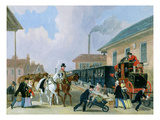 The Louth-London Royal Mail Travelling by Train from Peterborough East in December 1845