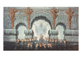 Muehleborn's Water Palace  Set Design for a Production of 'Undine'  (W/C on Paper)