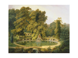 Temple  Fountain and Cave in Sezincote Park  1819 (Oil on Canvas)