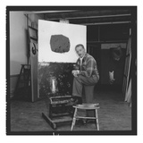 Adolph Gottlieb (1903-74) in His Studio (Photo)