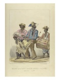 Band of the Jaw-Bone John-Canoe  Illustration from 'sketches of Character'  1837 (Colour Litho)