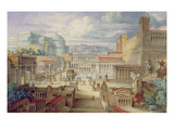 A Scene in Ancient Rome  a Setting for Titus Andronicus  Act I  Scene 3  C1830