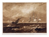 The Leader Sea Piece  Engraved by Charles Turner (1773-1857) 1859-61 (Engraving)