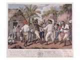 A Cudgelling Match Between English and French Negroes on the Island of Dominica  1779 (Aquatint)