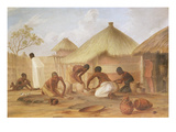 Manufacture of Sugar at Katipo - Making the Panellas or Pots to Contain It  1859 (Oil on Canvas)