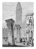 St Mark's Square  Venice  Engraved by Edward John Roberts (Engraving)