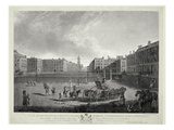 View of Hanover Square  Engraved by Robert Pollard (1755-1838) and Francis Jukes (1747-1812) 1787
