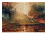 Mount Vesuvius in Eruption  1817 (W/C on Paper)