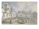 A Review in a Market Place  C1790 (Pen and Ink with W/C on Paper)