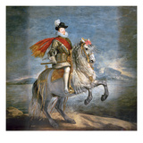 Equestrian Portrait of Philip Iii (1578-1621) C1628-35 (Oil on Canvas)
