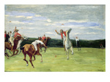 Polo Player in Jenischpark  Hamburg  1903 (Oil on Canvas)