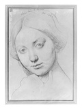 Louise De Broglie  Countess of Haussonville  C1842 (Graphite on Paper)