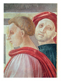 Heads of Two Men  from the Presentation of Mary in the Temple  1433-34 (Fresco) (Detail)