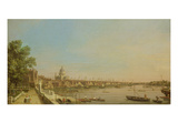 The Thames from the Terrace of Somerset House Looking Towards St Paul's  c1750