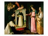 The Apparition of the Virgin to the Monk of Soriano (Oil on Canvas)