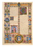 Fol204V Letter from St Paul to the Colossians  from the Borso D'Este Bible Vol 2 (Vellum)