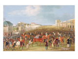 Epsom Races: the Race over (Oil on Canvas)