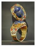 Scarab Bracelet  from the Tomb of Tutankhamun  New Kingdom (Gold and Lapis Lazuli)